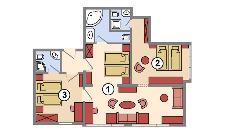 familienzimmer bayerischer hof bayerischer wald. Black Bedroom Furniture Sets. Home Design Ideas